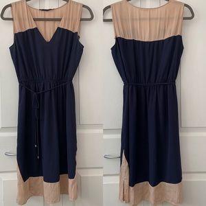 Zara Basic Sleeveless Colour Block Dress